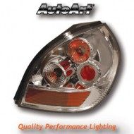NISSAN ALMERA (00-) TAIL LIGHTS - CHROME LEXUS-STYLE (RHD)