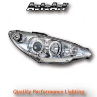 PEUGEOT 206 (02-05) 206CC (99-05) S16 GTI (99-05) CHROME ANGEL EYE HEADLIGHTS