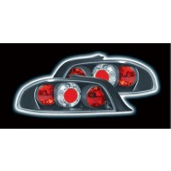 PEUGEOT 306 CABRIO (97-00) TAIL LIGHTS - BLACK LEXUS-STYLE