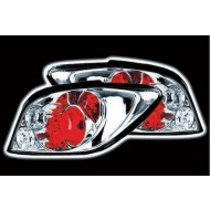 PEUGEOT 307 (01-08) TAIL LIGHTS - CHROME LEXUS-STYLE (RHD ONLY)