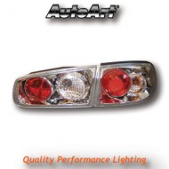 RENAULT LAGUNA HATCH (00-06) TAIL LIGHTS - CHROME LEXUS-STYLE