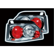 RENAULT CLIO 1 (-98) TAIL LIGHTS - CHROME LEXUS-STYLE