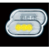 RENAULT CLIO 1 & 2 (-05) MEGANE (-02) LAGUNA (-00) LED SIDE REPEATERS - CLEAR