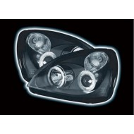 RENAULT CLIO 2 PHASE 2 (01-05) HEADLIGHTS - BLACK ANGEL EYES