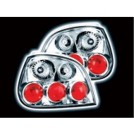 RENAULT MEGANE 5 DOOR 99-03 CHROME LEXUS TAIL LIGHTS