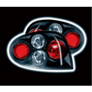 RENAULT MEGANE COUPE 99-03 BLACK LEXUS TAIL LIGHTS