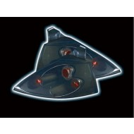 RENAULT MEGANE 3/5-DOOR HATCH (02-06) TAIL LIGHTS - BLACK LEXUS-STYLE