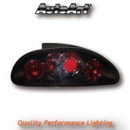 ROVER MGF (-04) TAIL LIGHTS - BLACK LEXUS-STYLE