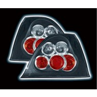 ROVER 200 (95-00) 25 (01-05) MG ZR (01-05) TAIL LIGHTS - BLACK LEXUS-STYLE