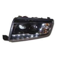 SKODA FABIA MK1 (99-07) BLACK DRL HEADLIGHTS