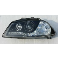 SEAT IBIZA 3 02-08/CORDOBA 03-08 BLACK DRL HEADLIGHTS