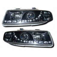 SEAT LEON/TOLEDO 99-05 BLACK DRL HEADLIGHTS