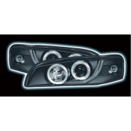 SUBARU IMPREZA (97-00) HEADLIGHTS - BLACK ANGEL EYES (RHD ONLY)