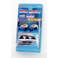 Wide Angle Windscreen Washer - Chrome with blue LED