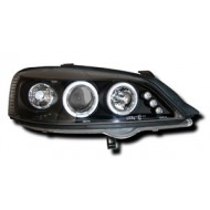 VAUXHALL ASTRA G MK4 (98-03) HEADLIGHTS - BLACK ANGEL EYES (RHD ONLY)