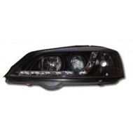 VAUXHALL ASTRA G MK4 (98-03) HEADLIGHTS - BLACK DRL (RHD ONLY)