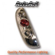 VAUXHALL CORSA C 3/5-DOOR (00-) TAIL LIGHTS - CHROME LEXUS-STYLE
