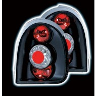 VAUXHALL CORSA B 3-DOOR (93-00) TAIL LIGHTS - BLACK LEXUS-STYLE