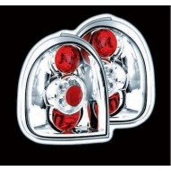 VAUXHALL CORSA B 3-DOOR (93-00) TAIL LIGHTS - CHROME LEXUS-STYLE