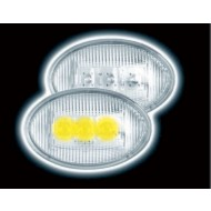 VAUXHALL OVAL LED CLEAR SIDE REPEATERS