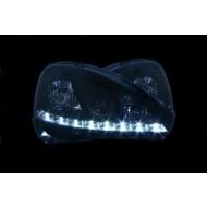 VAUXHALL CORSA C 01-05 3D/5D BLACK DRL HEADLIGHTS