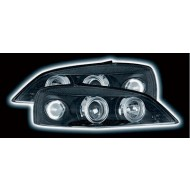 VAUXHALL ASTRA G MK4 (98-03) POWORING HEADLIGHTS - BLACK ANGEL EYES (RHD ONLY)