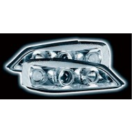 VAUXHALL ASTRA G MK4 (98-03) POWORING HEADLIGHTS - CHROME ANGEL EYES (RHD ONLY)