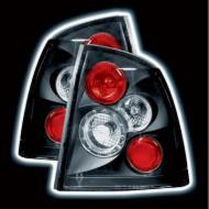 VAUXHALL ASTRA 4 SALOON/COUPE (98-03) TAIL LIGHTS - BLACK LEXUS-STYLE