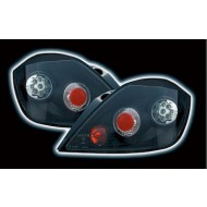 VAUXHALL ASTRA H 5DR TECHNO LED BLACK TAIL LIGHTS