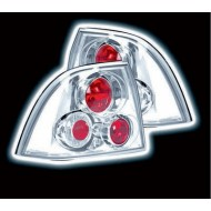 VAUXHALL VECTRA B 4-DOOR SALOON/HATCH (95-99) TAIL LIGHTS - CHROME LEXUS-STYLE