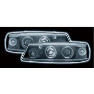 VAUXHALL CALIBRA BLACK LED HALO HEADLIGHTS
