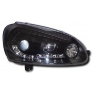 VW GOLF MK5 2003- BLACK DRL AUDI STYLE HEADLIGHTS