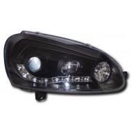 VW GOLF MK5 2003- BLACK DRL AUDI STYLE HEADLIGHTS