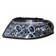 VW PASSAT B5 FACELIFT (00-04) HEADLIGHTS - CHROME ANGEL EYES