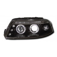 VW PASSAT (00-04) HEADLIGHTS - BLACK ANGEL EYES