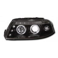 VW PASSAT (00-04) HEADLIGHTS - BLACK ANGEL EYES