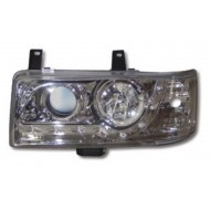 VW T4 CARAVELLE 90-97, TRANSPORTER 90-03 CHROME DRL HEADLIGHTS (SHORT NOSE)