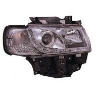 VW T4 CARAVELLE EUROVAN 94-03 CHROME DRL HEADLIGHTS