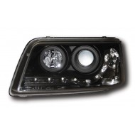 VW T5 CARAVELLE T5 TRANSPORTER (-09) HEADLIGHTS - BLACK DRL