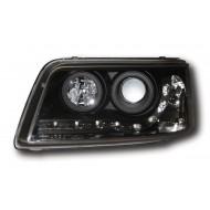 VW T5 CARAVELLE T5 TRANSPORTER (-09) HEADLIGHTS - BLACK DRL