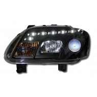 VW TOURAN (03-06)/CADDY (05-) BLACK DRL HEADLIGHTS