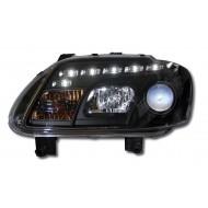 VW TOURAN (03-06)/CADDY (05-) BLACK DRL HEADLIGHTS
