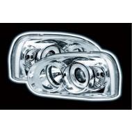 VW GOLF MK3 92-98 CHROME HALO HEADLIGHT